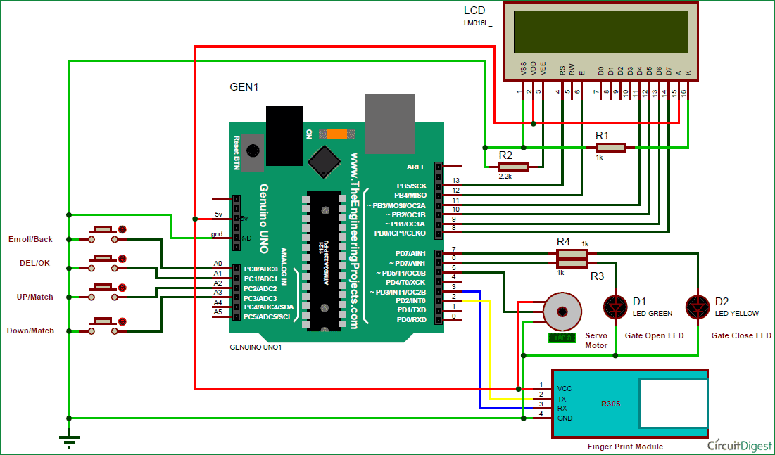 Biometric security system using arduino and fingerprint sensor