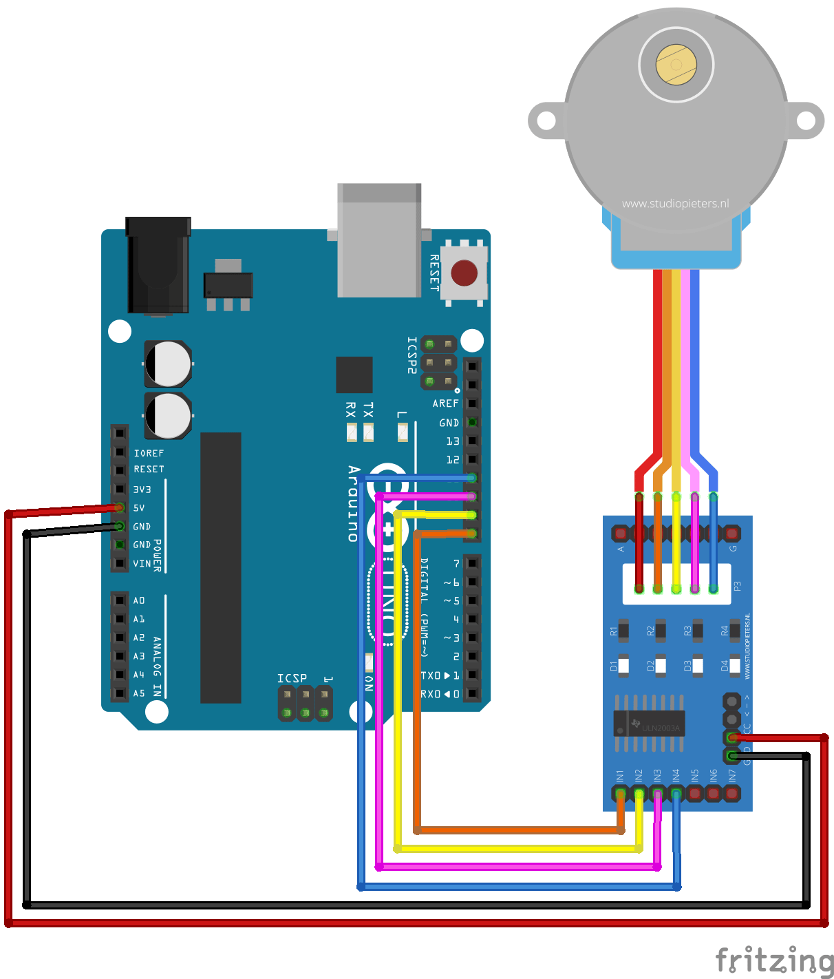 Arduino stepper motor control tutorial with code and for Motor driver for arduino