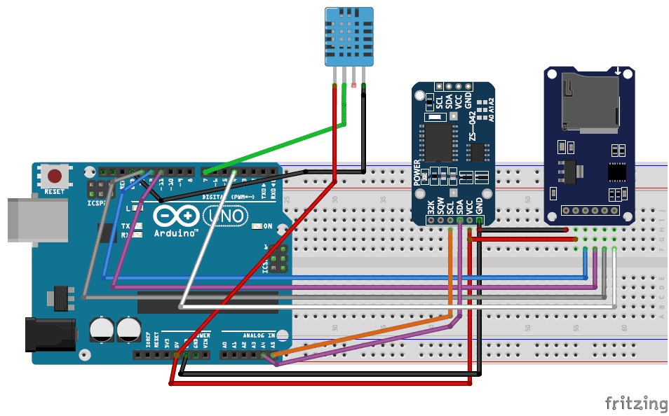 Arduino Data Logger Project (Log Temperature, Humidity, Time