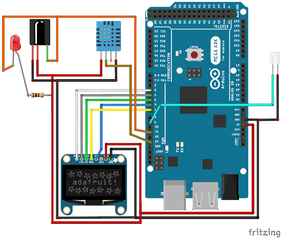 Automatic Ac Temperature Controller Using Arduino Dht11 And Ir Blaster Central Air Conditioning Circuit Board Diagram