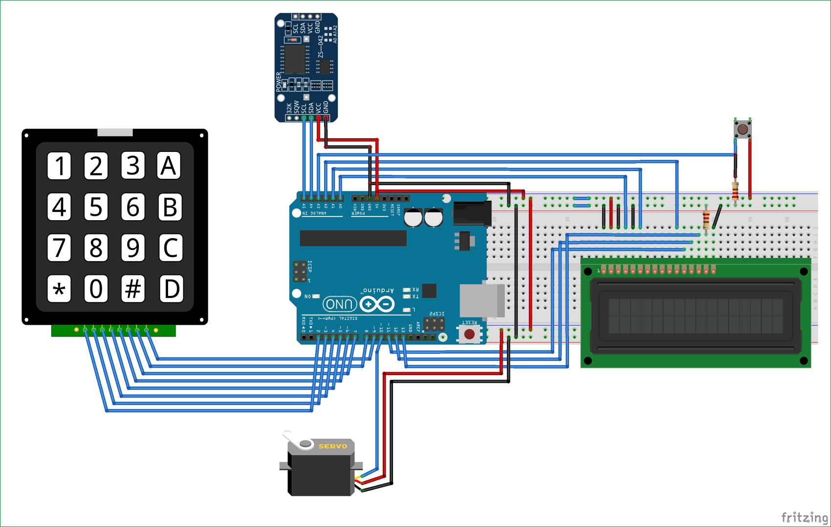 Automatic Pet Feeder Using Arduino And Ds3231 Real Time Clock Circuit Schematics Diagram
