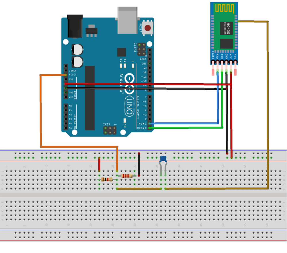 Circuit Connection for Arduino Wireless Programming