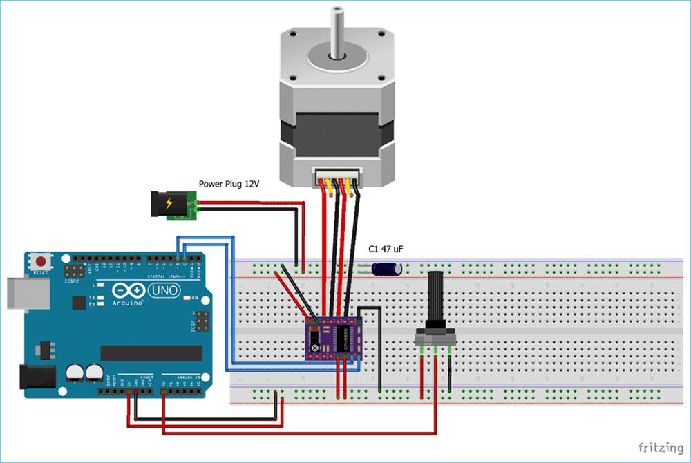 Control NEMA 17 Stepper Motor with Arduino and DRV8825