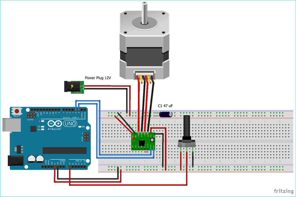 Controlling Nema 17 Stepper Motor With Arduino And A4988 Stepper Driver Module