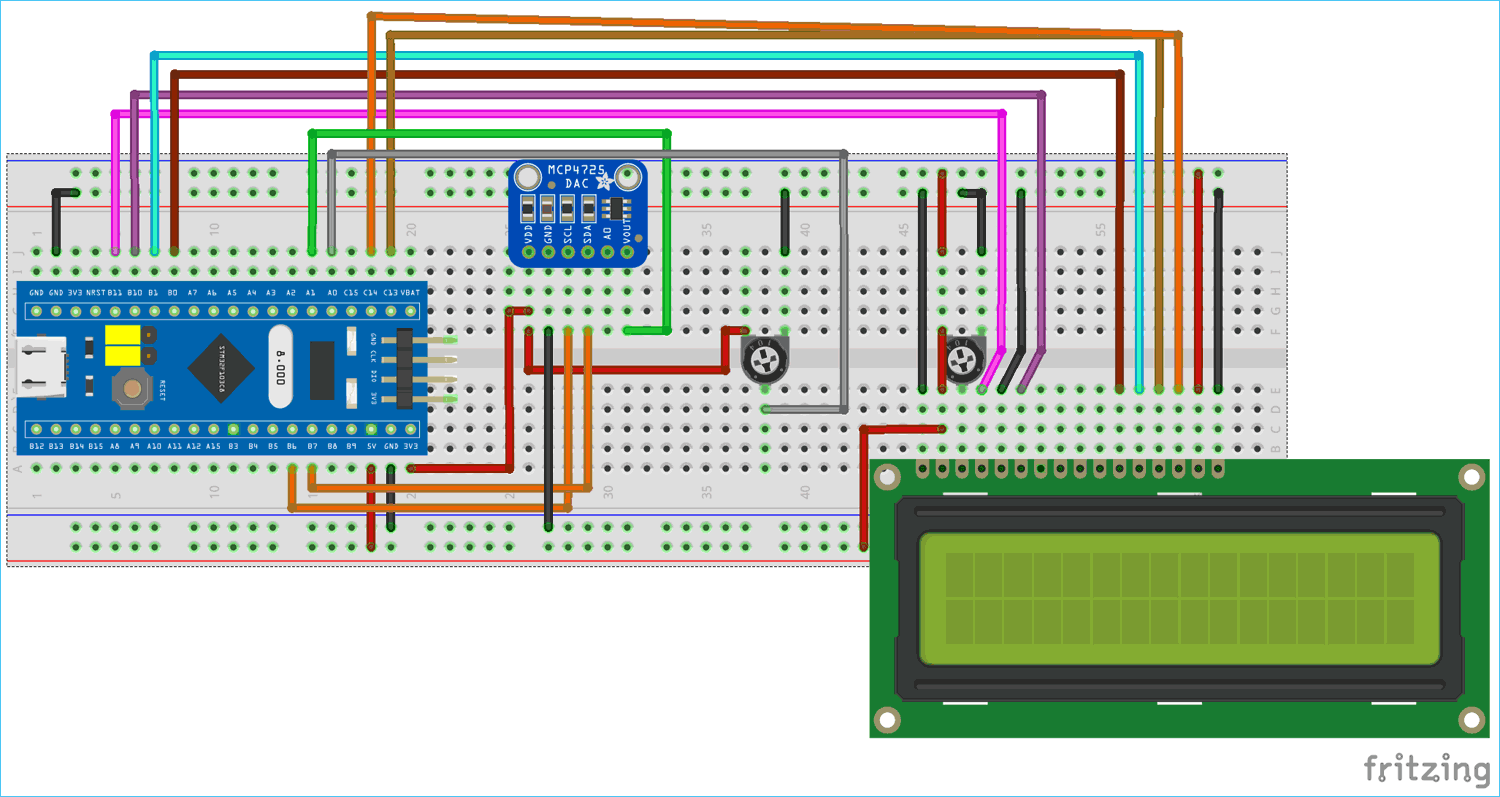 Circuit Diagram for Digital to Analog Converter with STM32F10C8