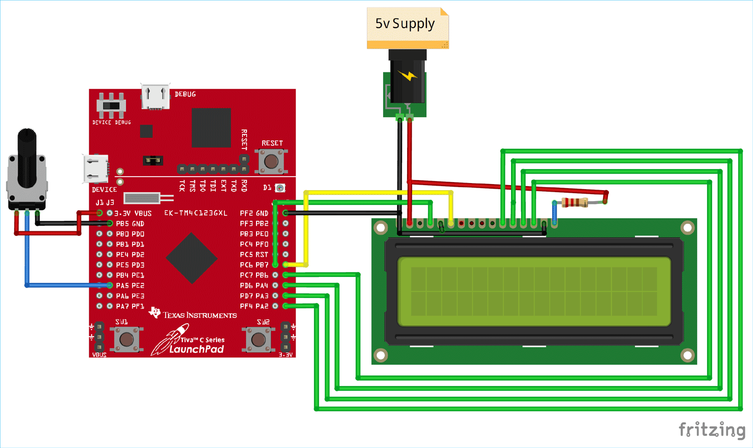 How To Interface A Lcd Display With Tiva C Series Tm4c123g Launchpad From Texas Instruments