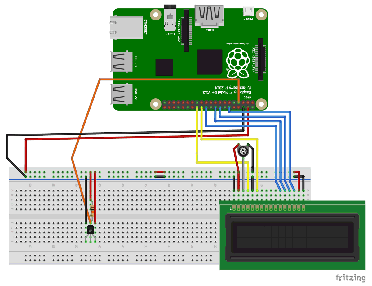 Raspberry Pi Ds18b20 Temperature Sensor Interfacing Tutorial Wiring Diagram Circuit For With