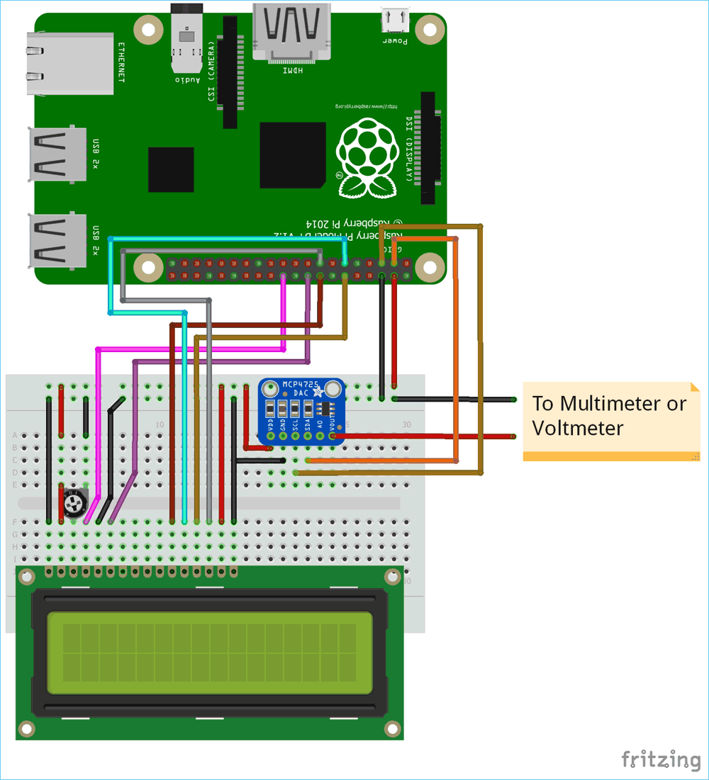 Raspberry Pi MCP4725 DAC Tutorial: Interfacing MCP4725 12