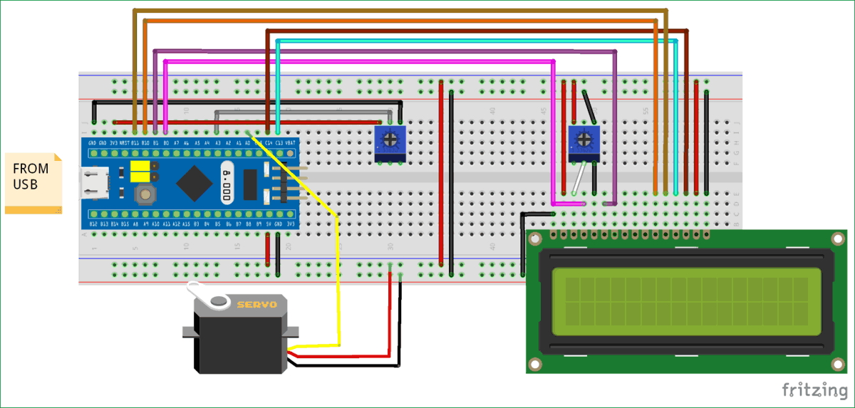 Circuit-Diagram-for-Interfacing Servo Motor with STM32F103C8 (Blue Pill)