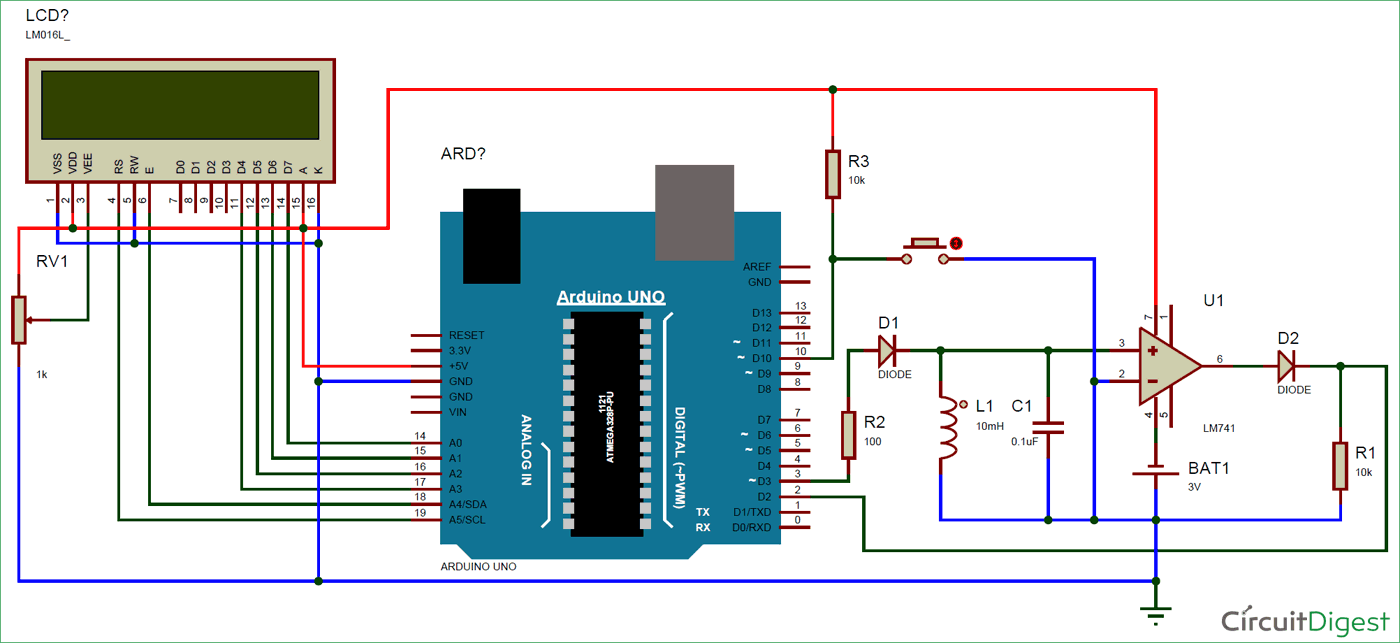 Time Delay Circuit Diagram Lc Meter Using Arduino Measuring Inductance And Frequency For