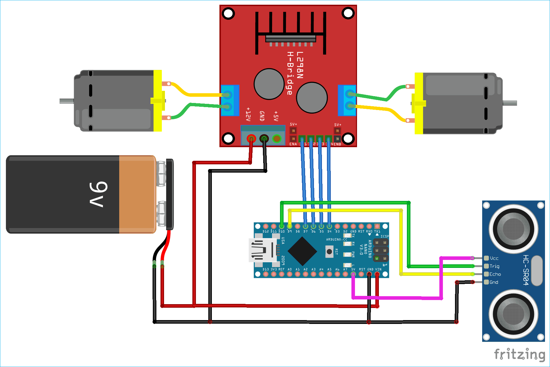Arduino Based Obstacle Avoiding Robot Project With Code And Circuit Diagram