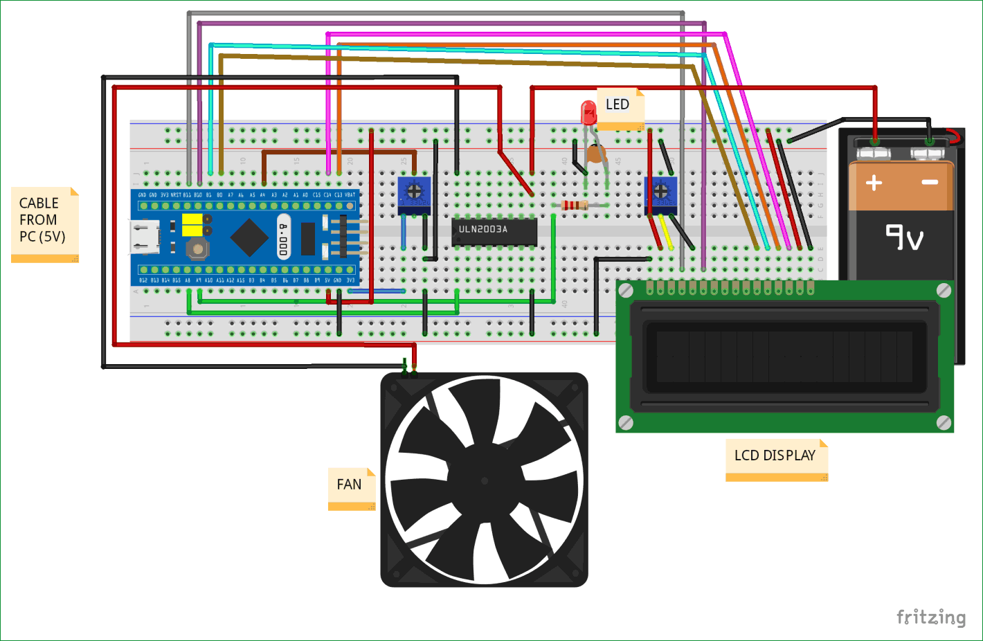Pulse Width Modulation Pwm In Stm32f103c8 Controlling Speed Of Dc Fan Motor Controller With Electronic Projects Circuits Circuit Diagram For