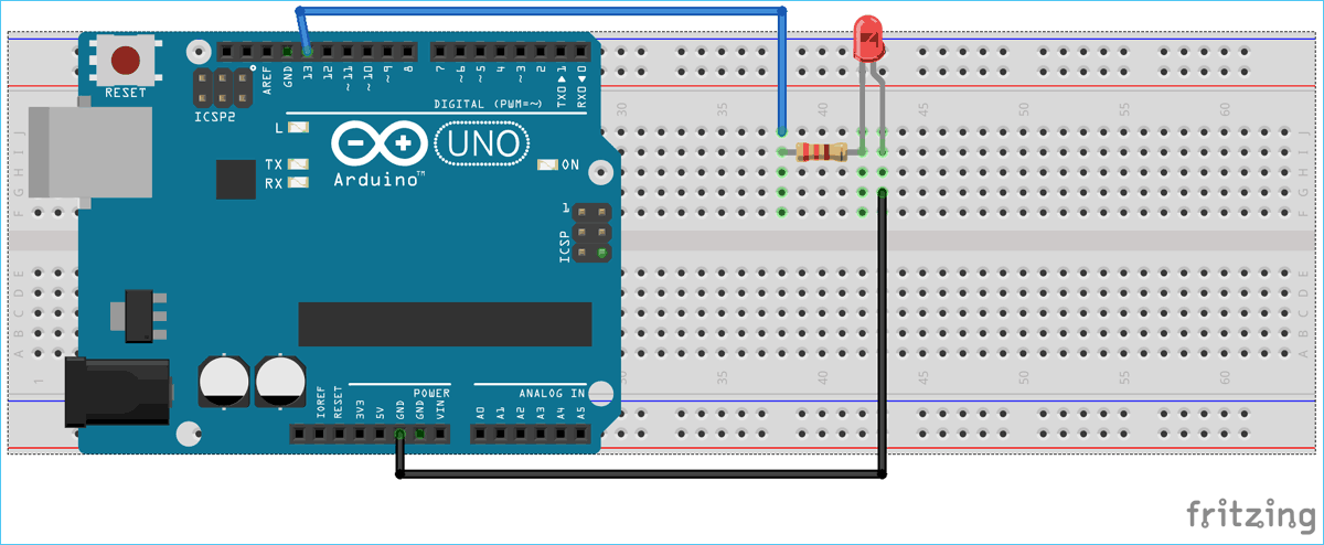 Circuit Diagram for Serial Communication between MATLAB and Arduino