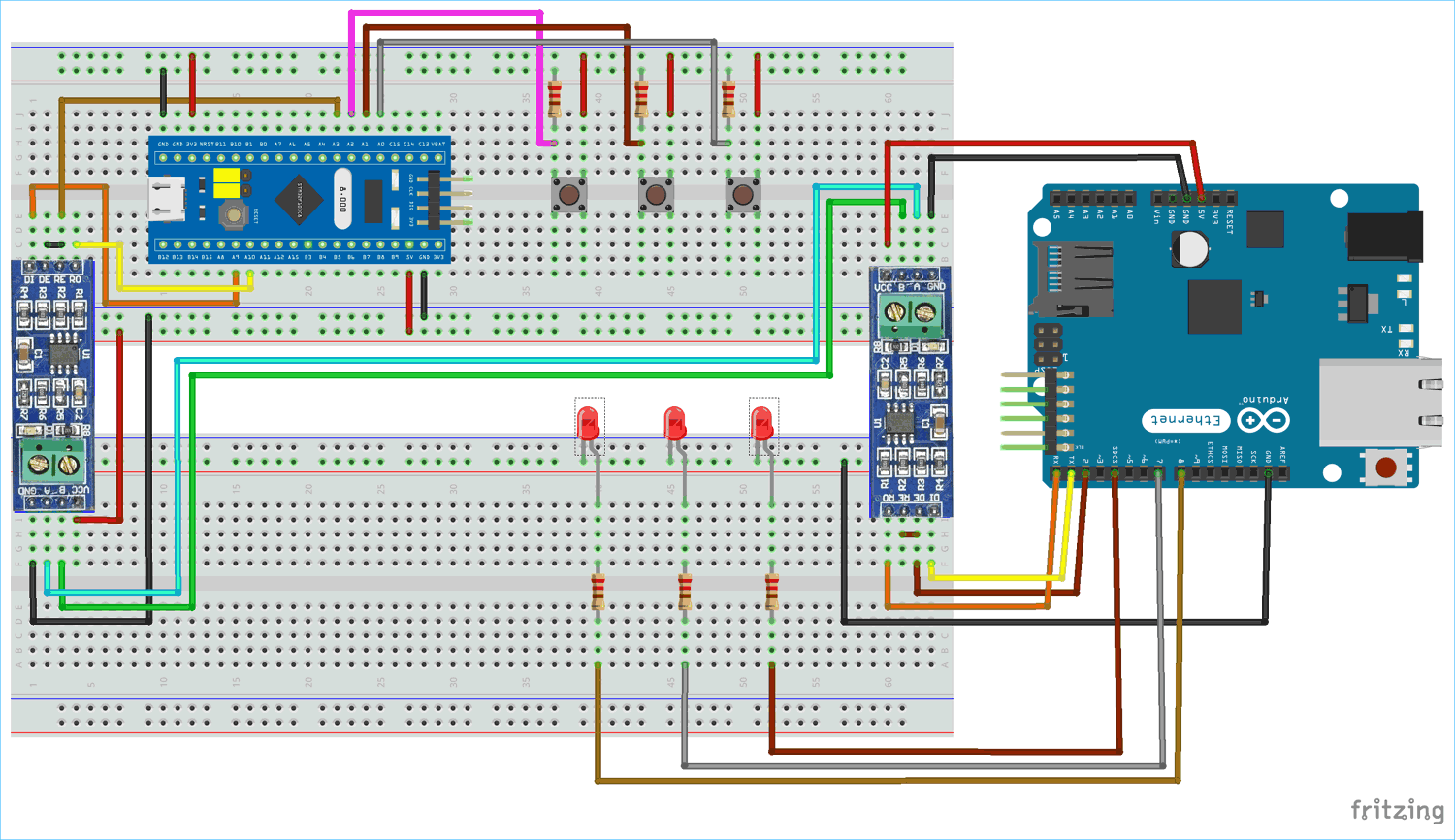 Serial Communication Between Stm32f103c8 And Arduino Uno