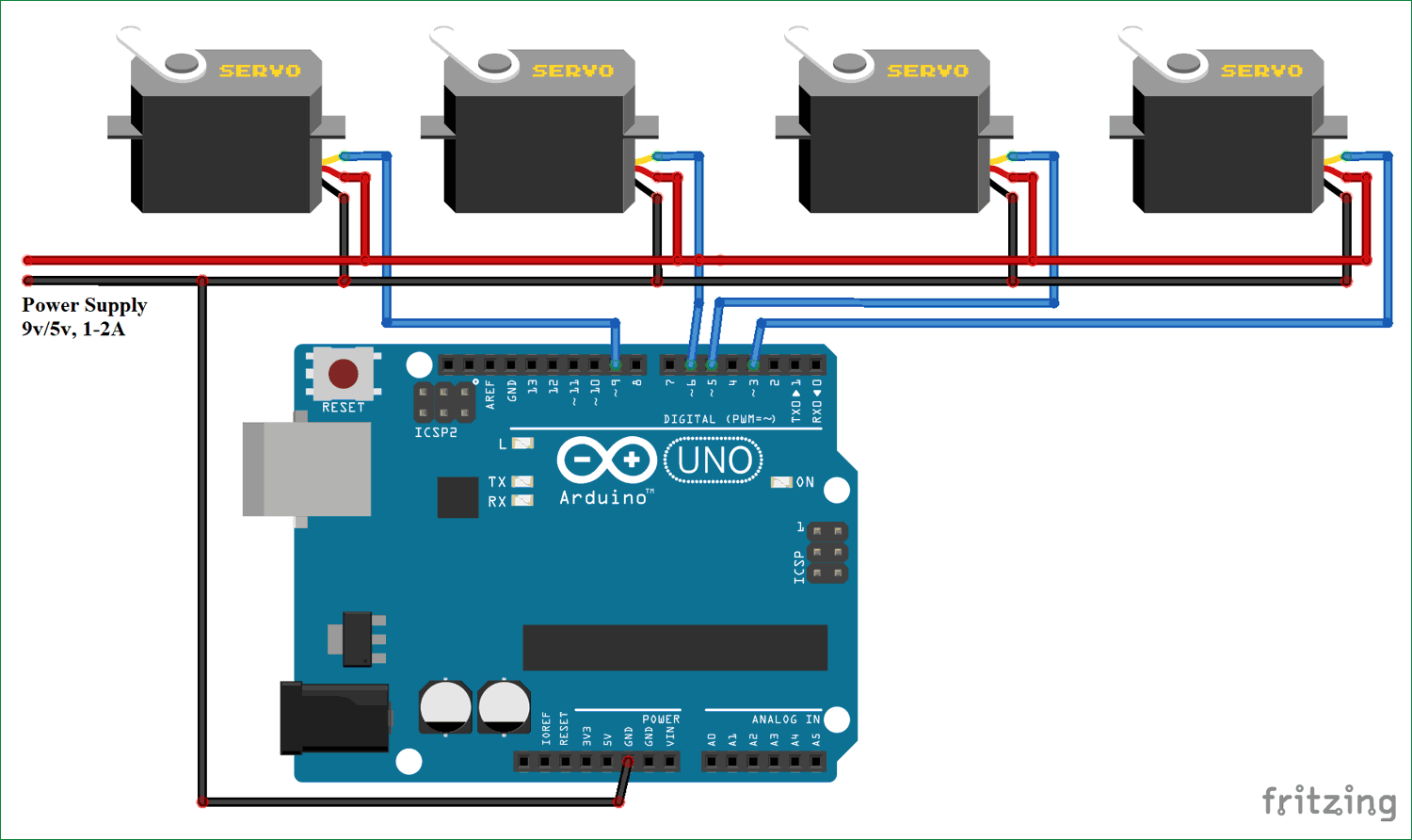 Controlling multiple servo motors with arduino for How to control servo motor