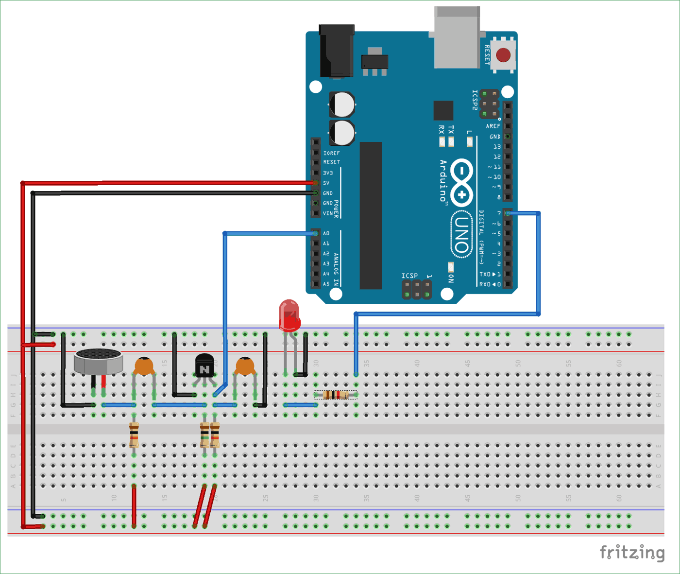 Clap Switch Using Arduino Flashing Leds Is To Use A Single Transistor Or An Inverter Circuit Diagram