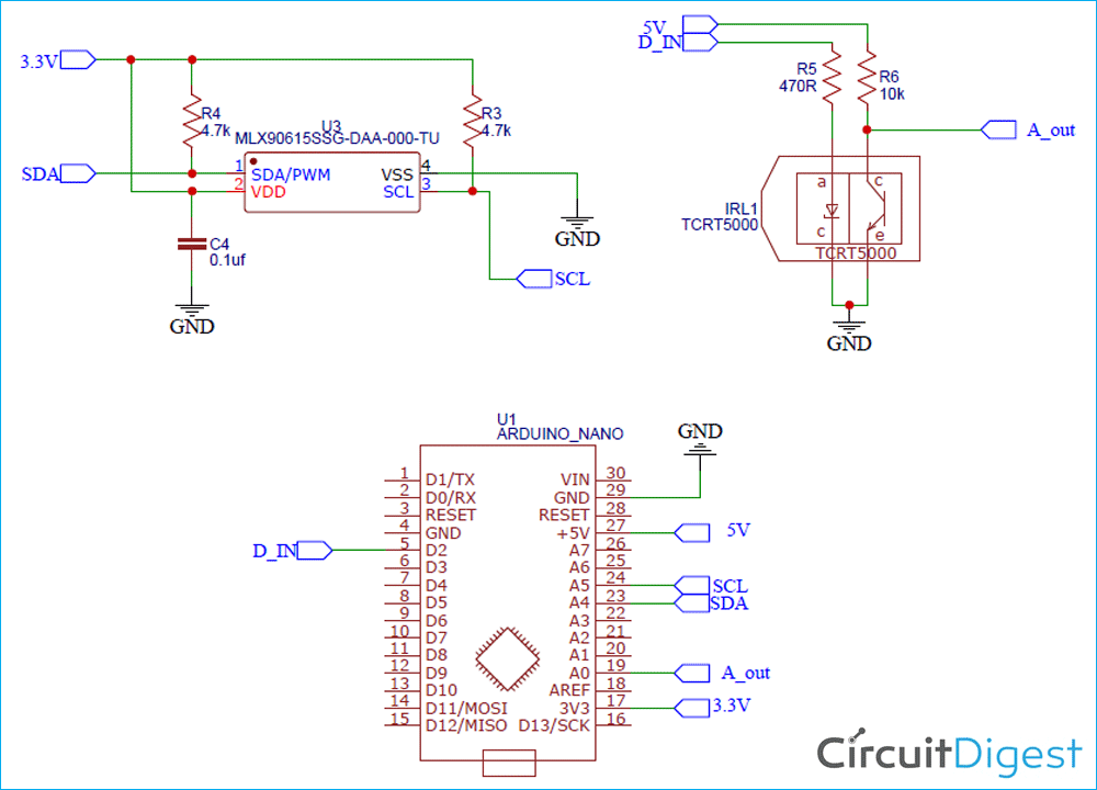 Contactless Body Thermometer Schematic