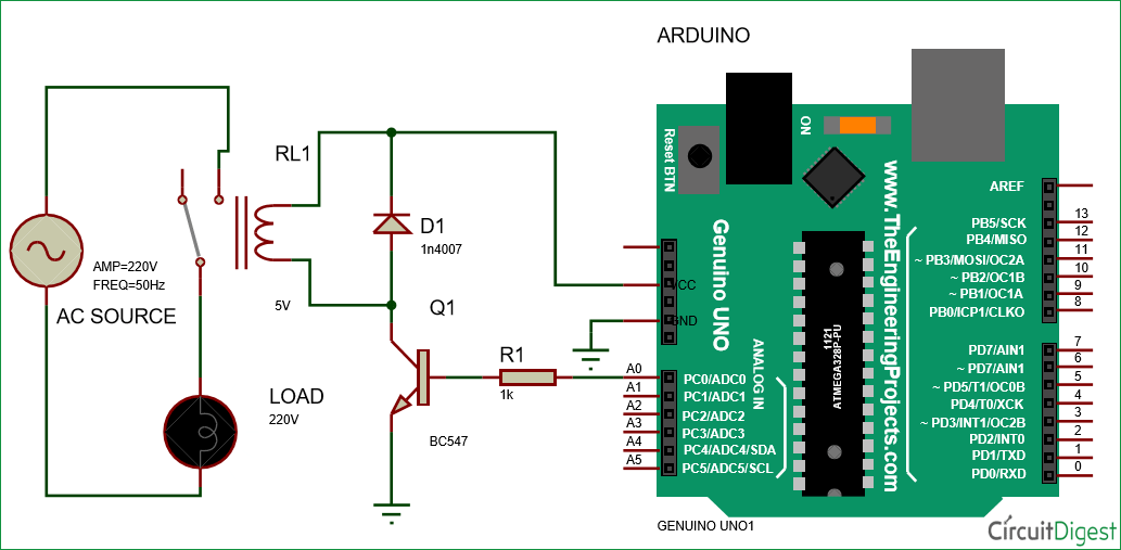 Stupendous Arduino Relay Control Tutorial With Code And Circuit Diagram Wiring Digital Resources Helishebarightsorg