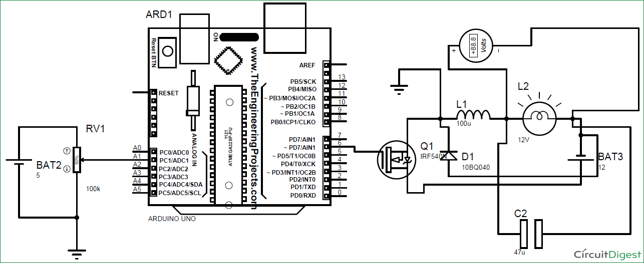 dc-dc buck converter circuit diagram
