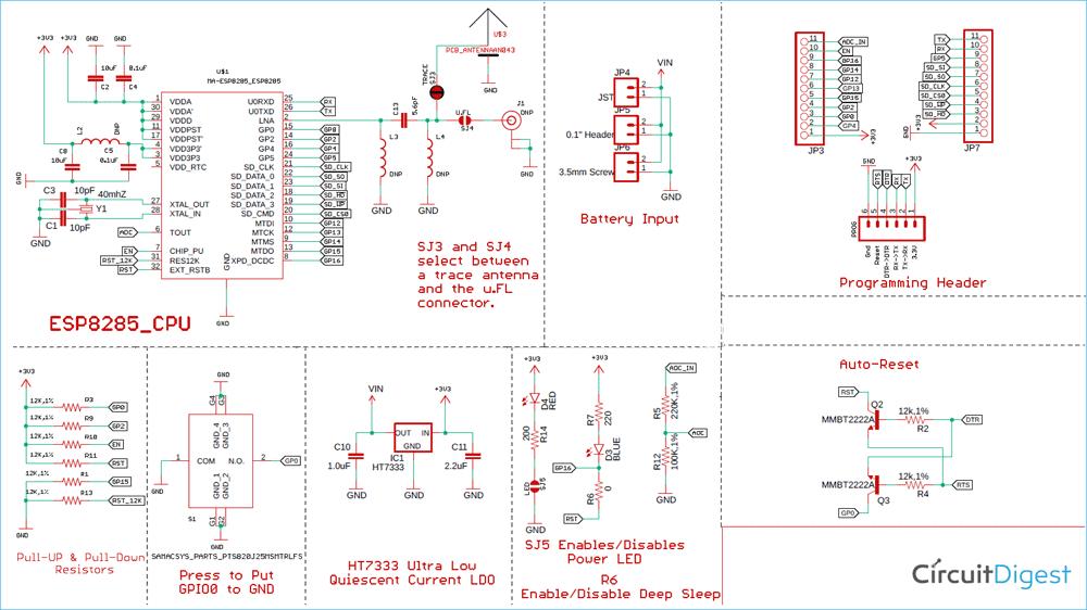 ESP Development Board Circuit Diagram