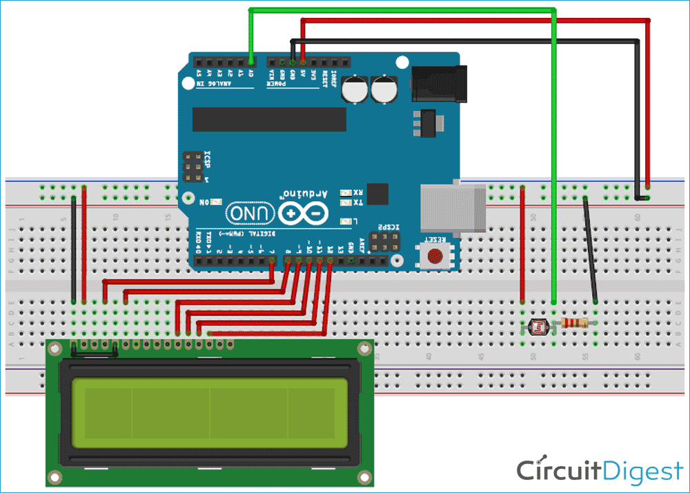 Arduino FreeRTOS Tutorial Circuit Diagram