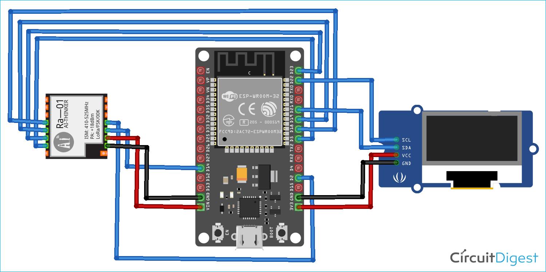 Interfacing LoRa with ESP32