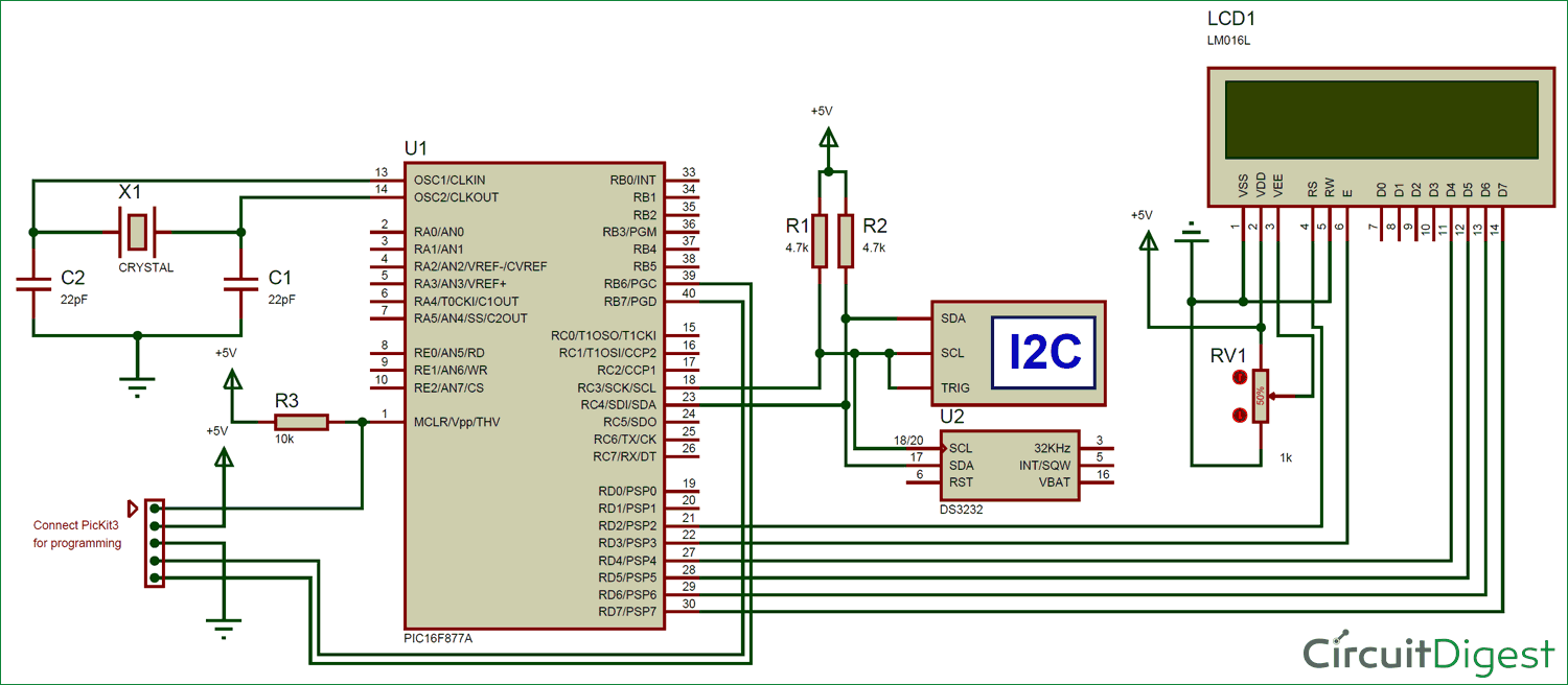 Interfacing Rtc Module Ds3231 With Pic Microcontroller Pic16f877a Circuit Diagram Of Nokia C2 01 Micro Controller