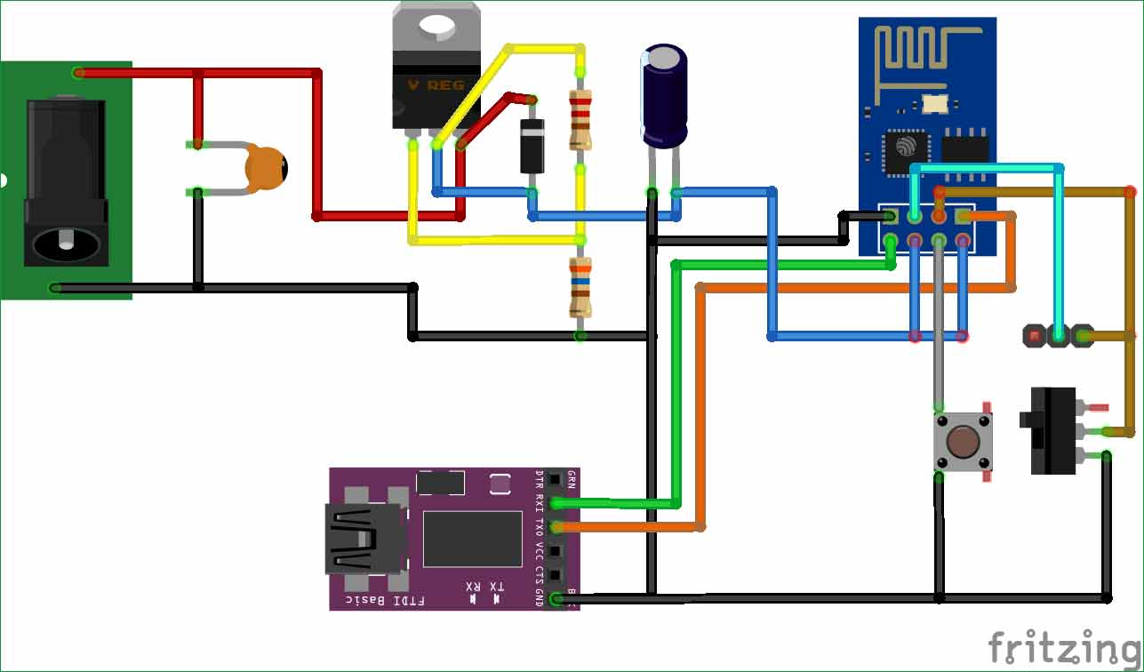 Programming-ESP8266-using-FTDI-module-circuit-diagram