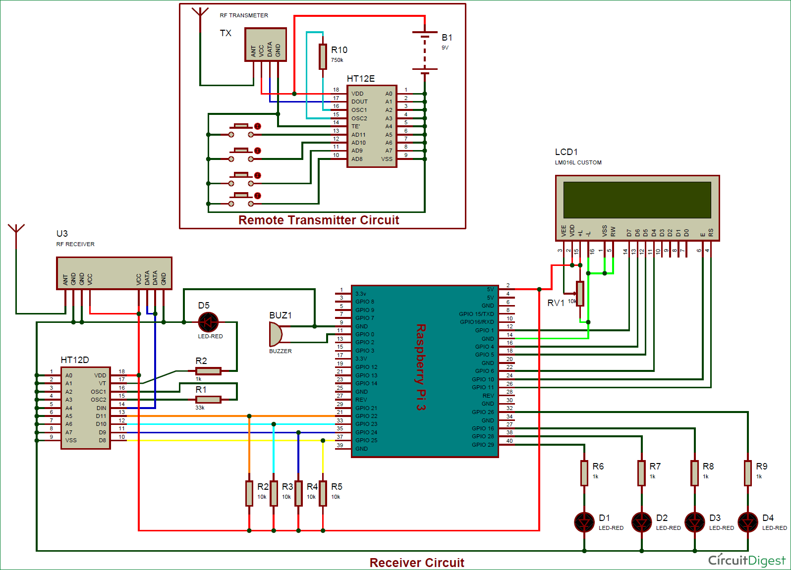 Rf Remote Controlled Leds Using Raspberry Pi Wiringpi Python Functions Control Circuit Diagram