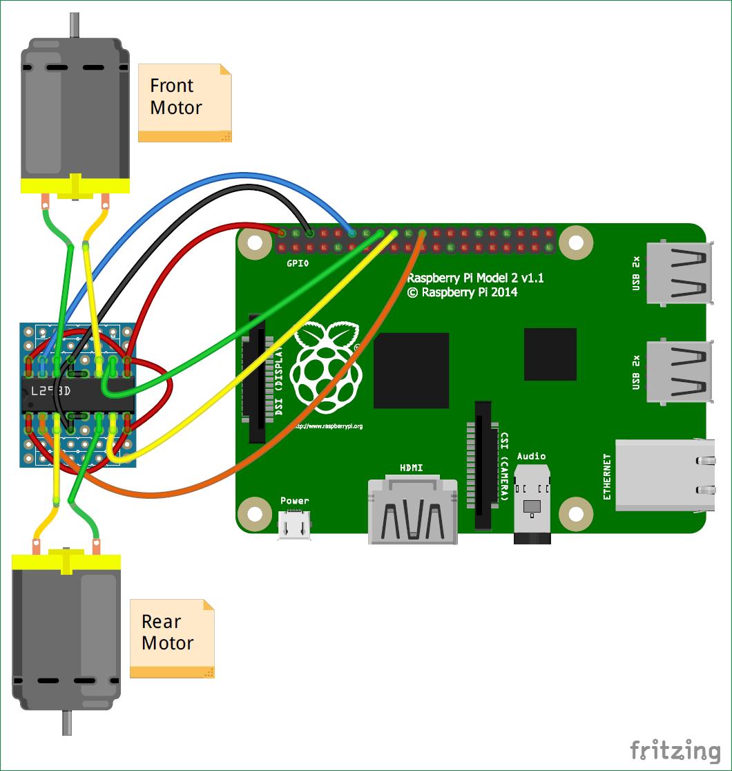 Diy Raspberry Pi Remote Controlled Car Using Bluetooth 1850584