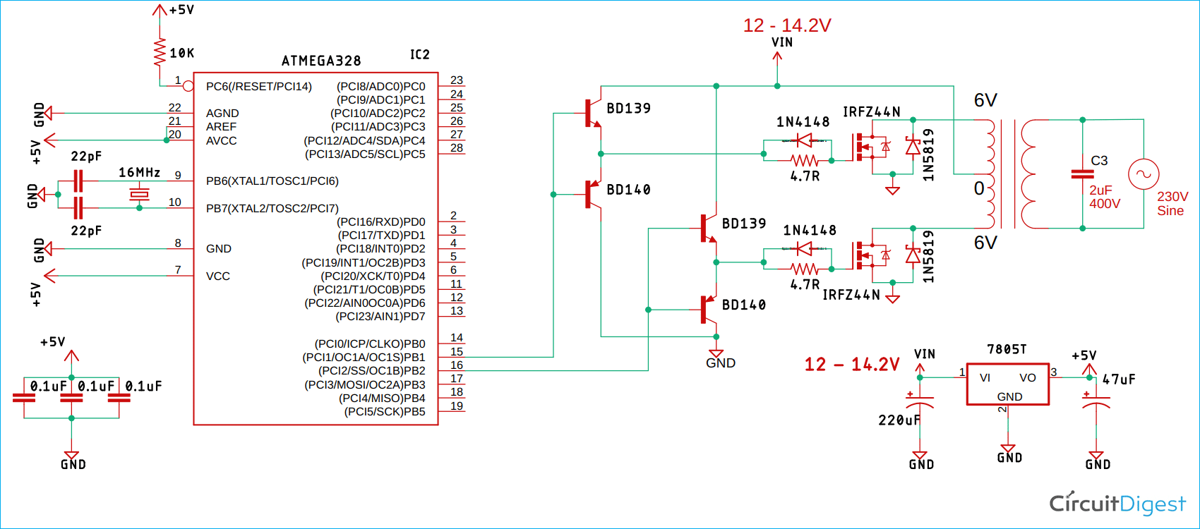 SPWM Inverter Circuit Diagram