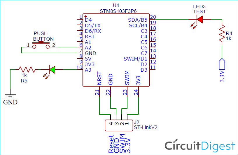 STM8S103F3 Internal Circuit