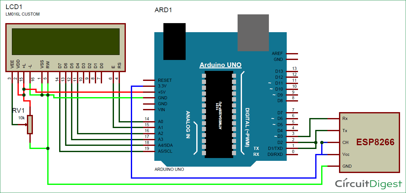 lcd based electronic voting machine using