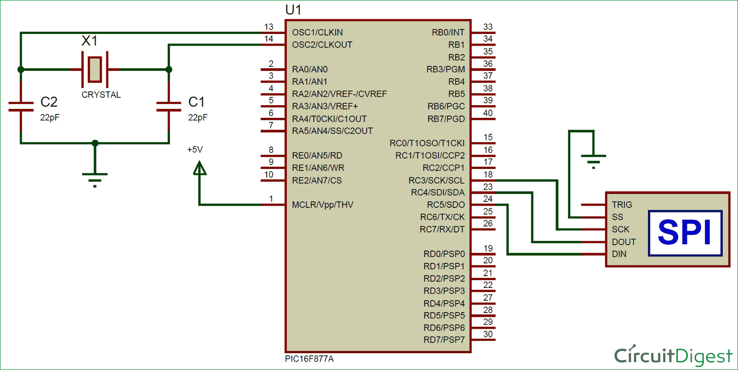 SPI Communication with PIC Microcontroller PIC16F877A