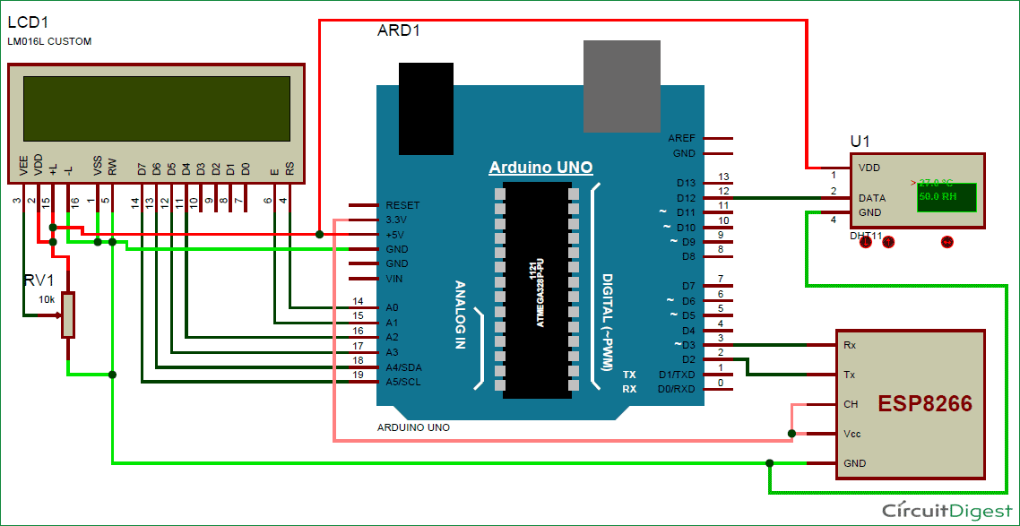 Temperature Humidity Monitoring over using ThingSpeak circuit temperature and humidity monitoring over internet using arduino 884021bs humidity controller wiring diagram at edmiracle.co