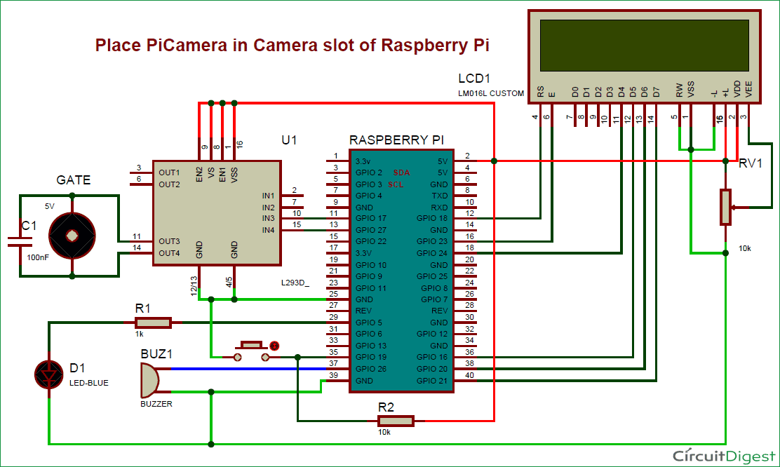 visitor monitoring system with raspberry pi and pi camera rh circuitdigest com wireless camera circuit diagram wireless camera circuit diagram