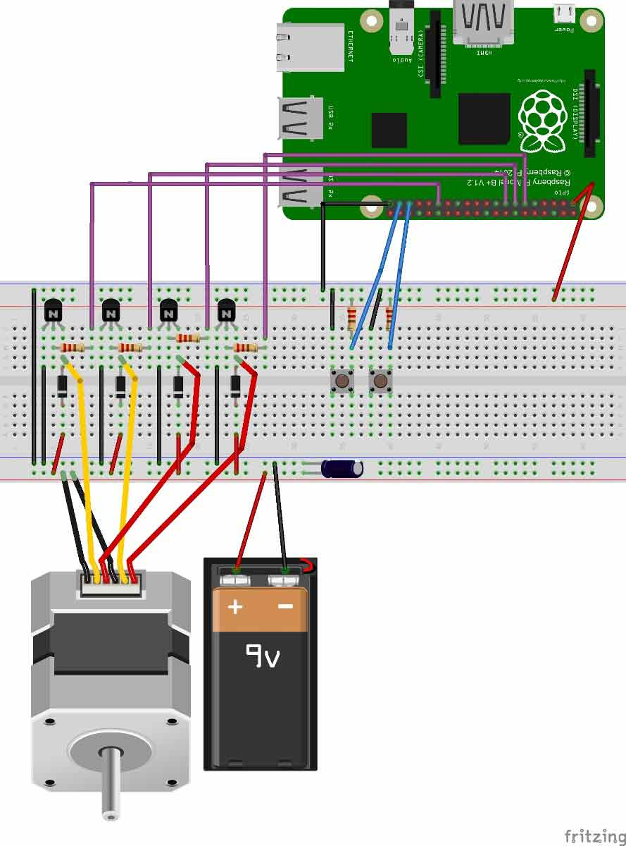 stepper motor control with raspberry pi
