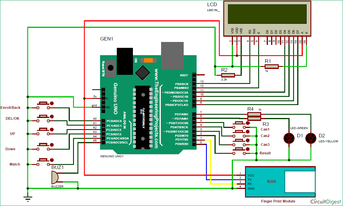 Fingerprint Based Biometric Voting Machine Project using Arduino