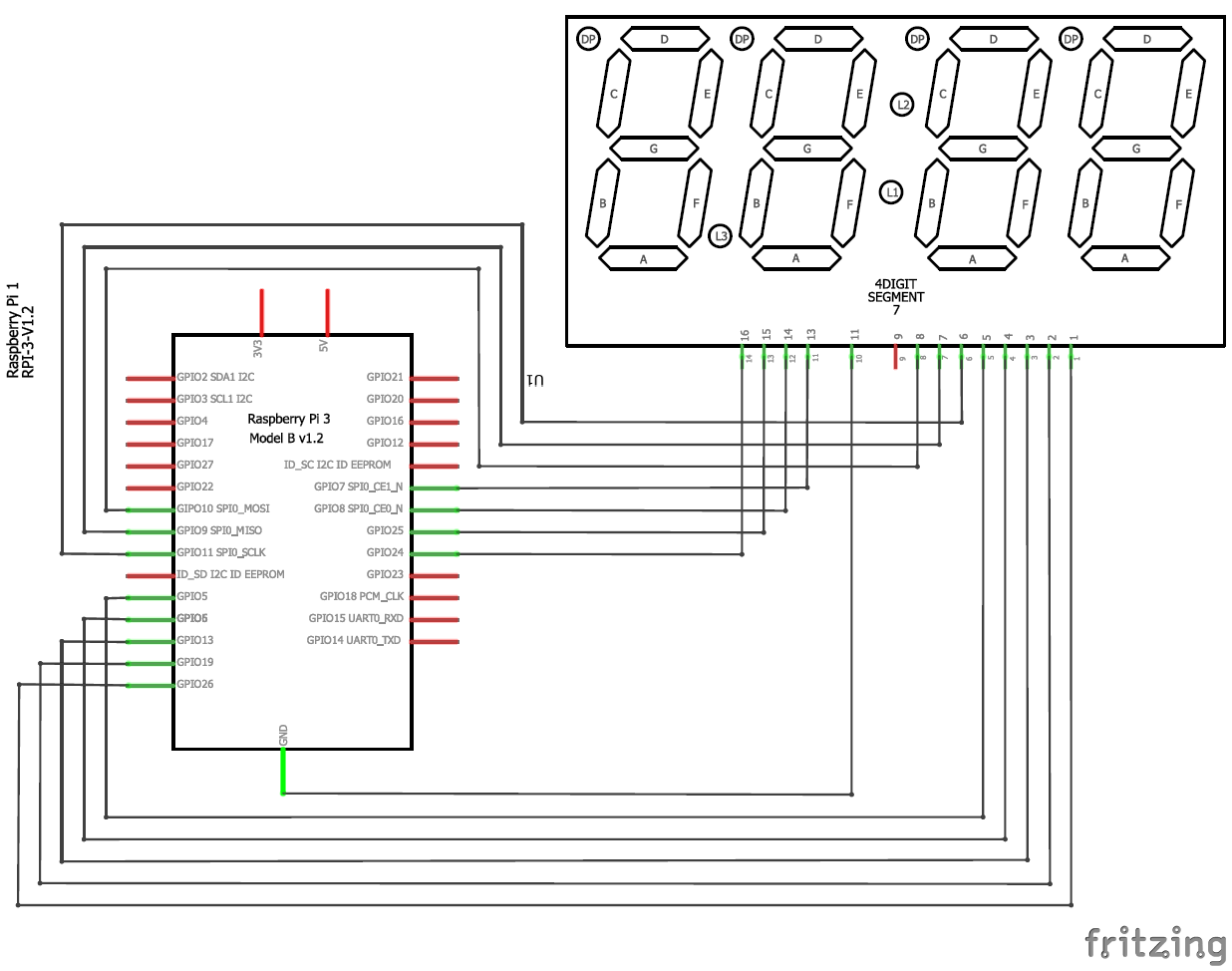 Raspberry Pi Digital Clock By Interfacing A 4 Digit 7 Segment Display Wiring Diagram With Circuit