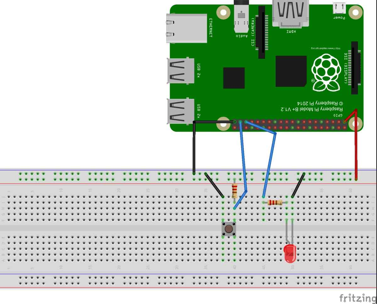 Simple Button Interfacing With Raspberry Pi