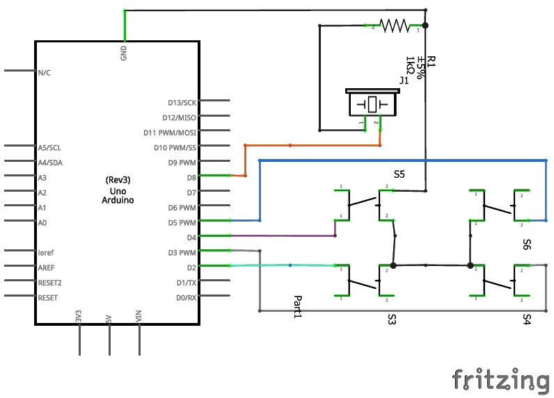 how to connect a buzzer in a circuit