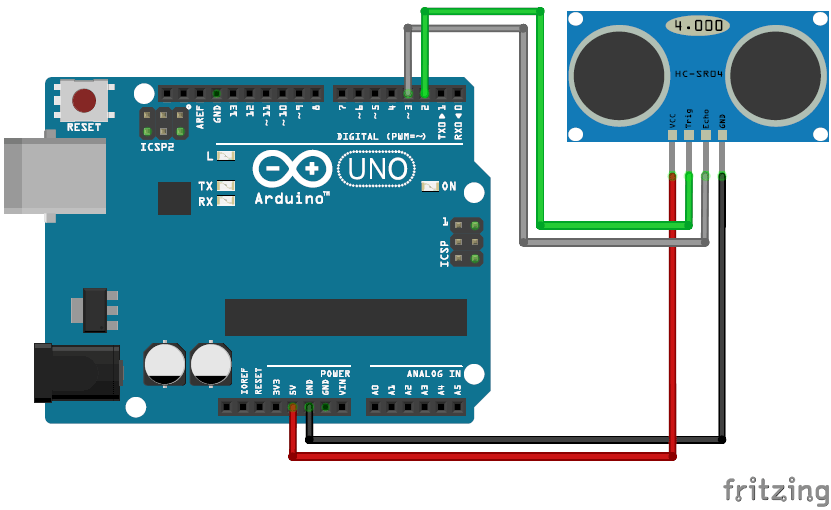 sensing motion with Python and arduino circuit diagram