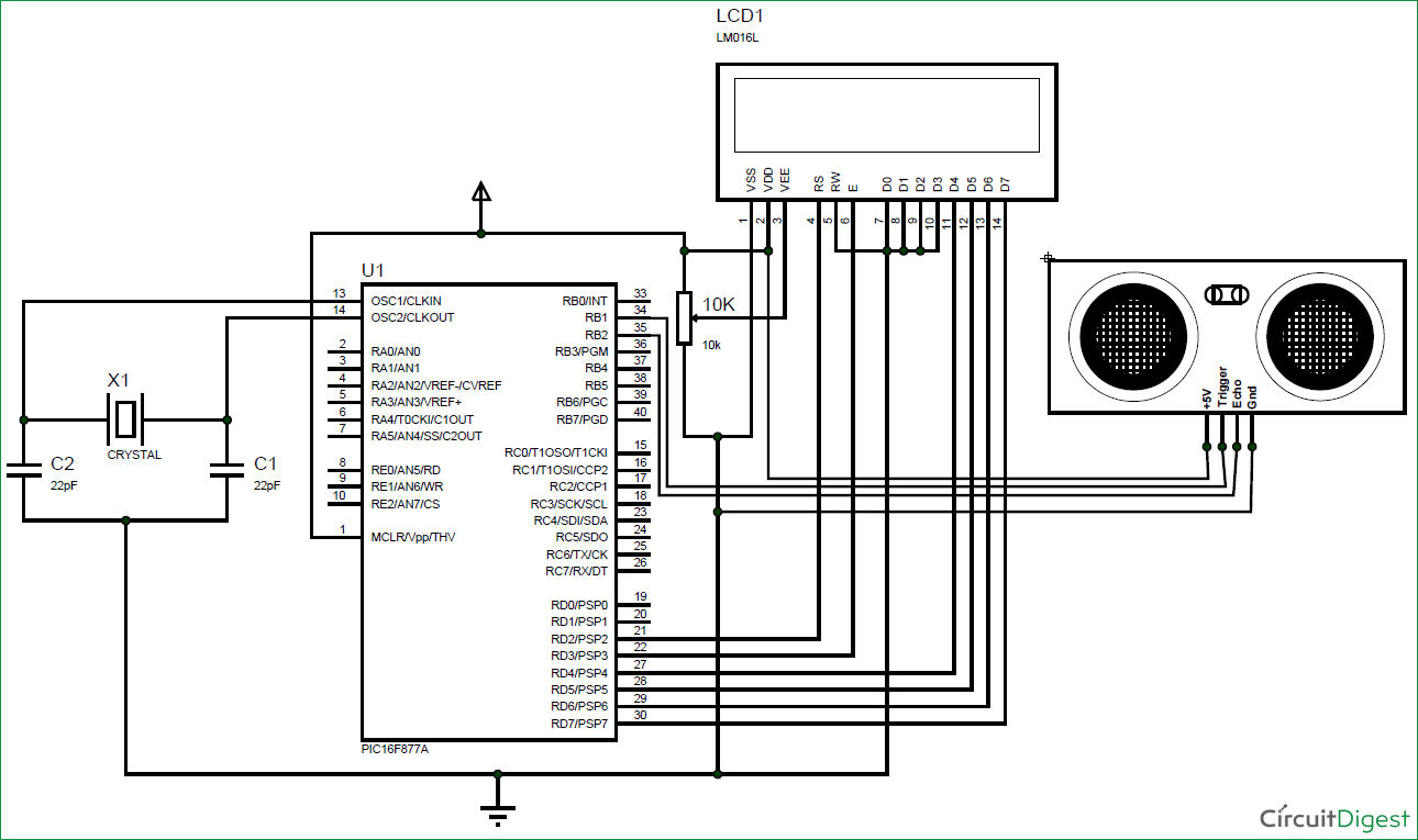 interfacing ultrasonic sensor hc