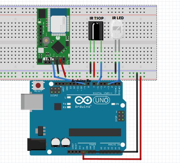 circuit diagram jammer smartphone based arduino universal ir remote control  smartphone based arduino universal ir remote control
