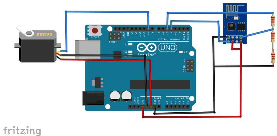 web controlled servo using arduino and wi