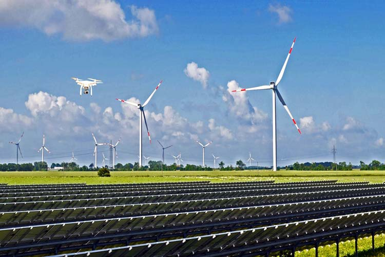 Drone Technology in Solar Power Plants