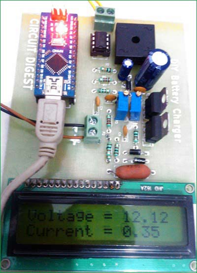 12v-battery-charger-circuit-PCB-with-component-soldered