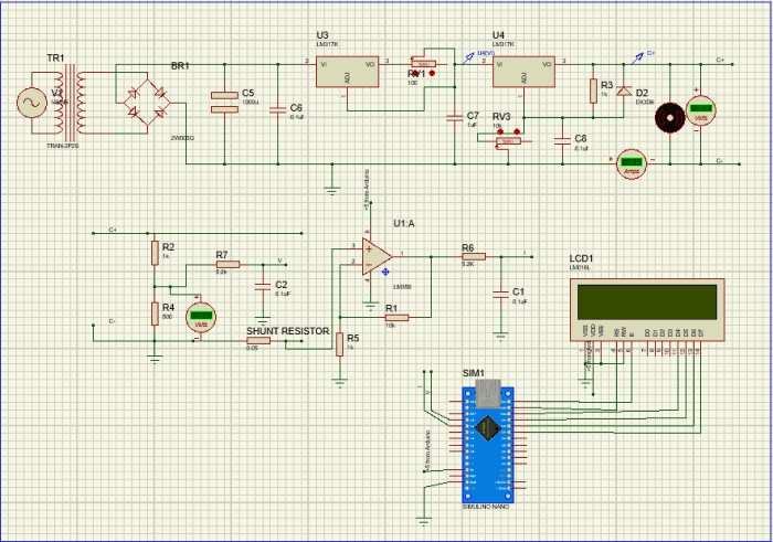 Solar Panel Battery Charger Circuit Diagram | 12v Battery Charger Circuit Diagram Using Lm317 12v Power Supply