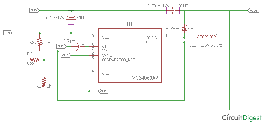 Pleasing 3 7V To 5V Boost Converter Circuit Diagram Using Mc34063 Wiring Digital Resources Ommitdefiancerspsorg