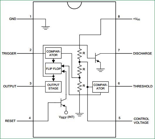 555 timer IC internal structure
